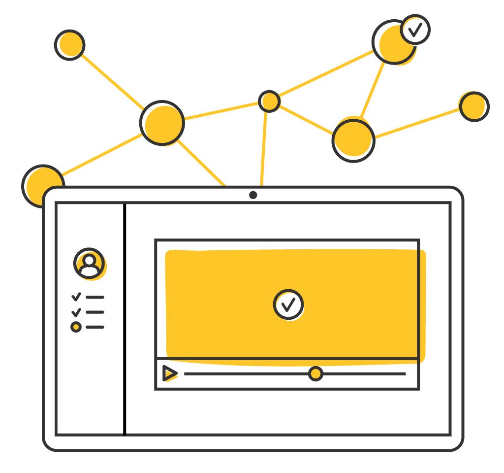 illustration of adaptive learning platform