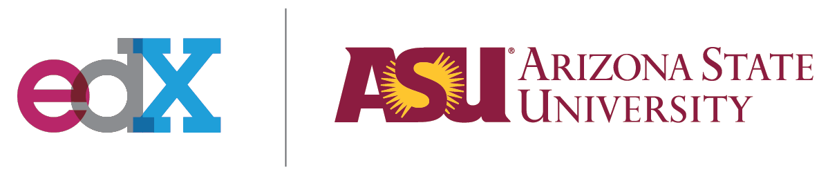 ASU and edX logos side by side